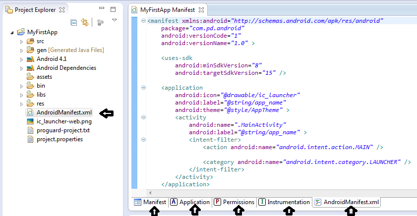 www kiss-android com | About AndroidManifest xml File